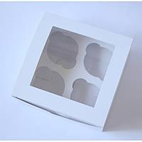 Коробка на 4 капкейка (с окошком)