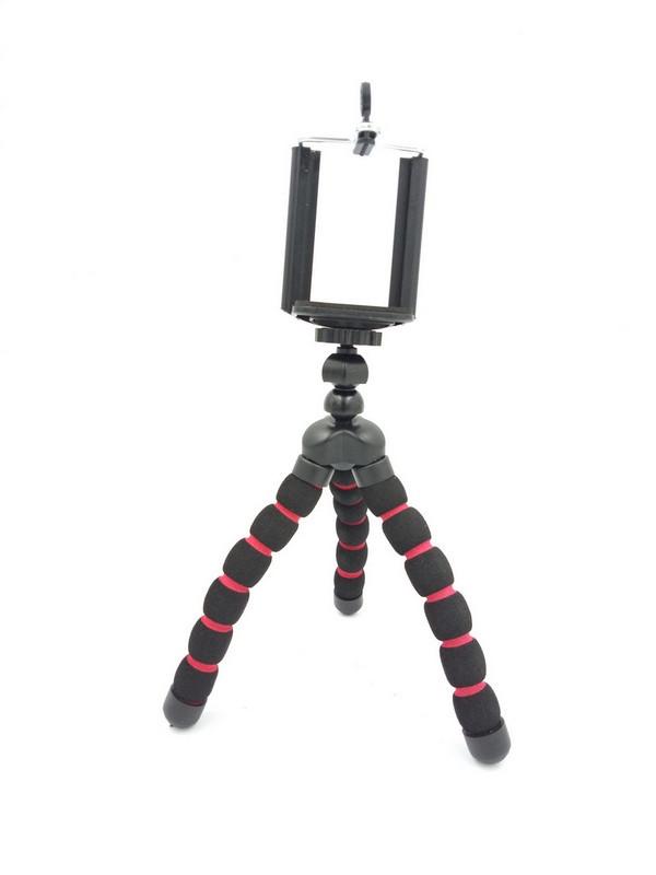 Гибкий селфи штатив осьминог или паук для смартфона с держателем настольный AccPro TM-06SM