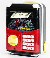 🔝 Игрушечный детский сейф с электронным кодовым замком для детей, Супергерои Спайдермен, копилка | 🎁%🚚