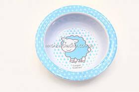 Canpol. Тарелка из меламина на присоске (4/519b) Голубая овечка