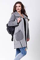 Пальто 2-493L Светло-серый