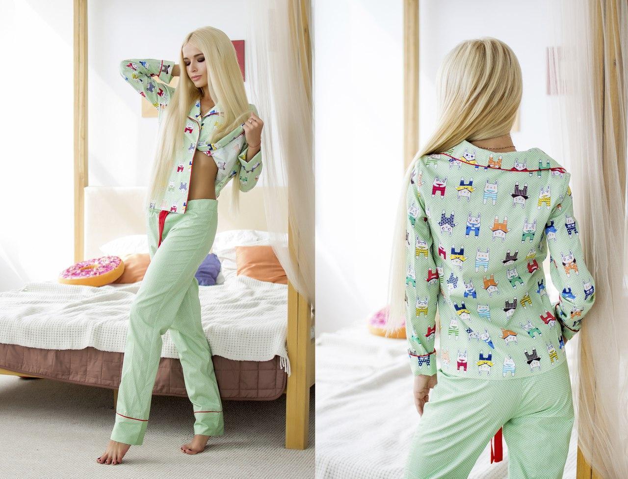 Хлопковая женская пижама со штанами 31odd08