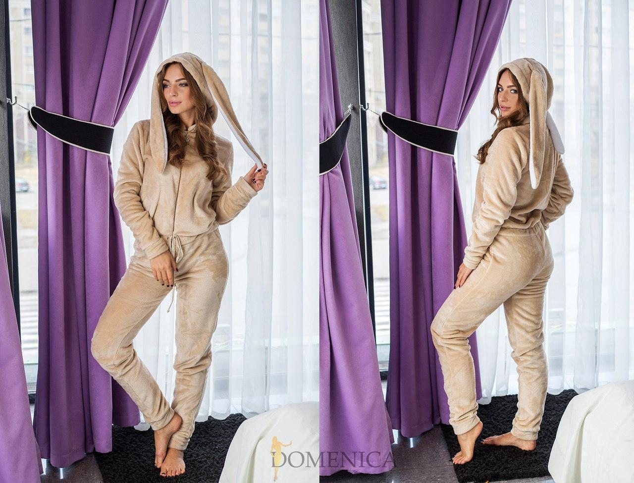 Женский домашний махровый костюм с ушками 31odd16
