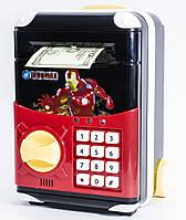 🔝 Игрушечный детский сейф с электронным кодовым замком для детей, Супергерои Айронмен, копилка детская 🎁%🚚