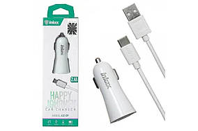 Зарядное устройство 12V INKAX CC-29 + type-C кабель (MD-0390)