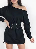 Теплое платье на флисе с корсетом Furor, фото 1