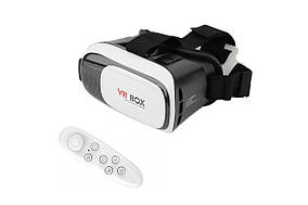 Очки виртуальной реальности VR BOX с пультом (white) (MD-1014)