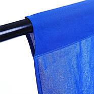 3х3м Фон студийный тканевый Visico PBM-3030 blue Chroma Key синий хромакей, фото 4