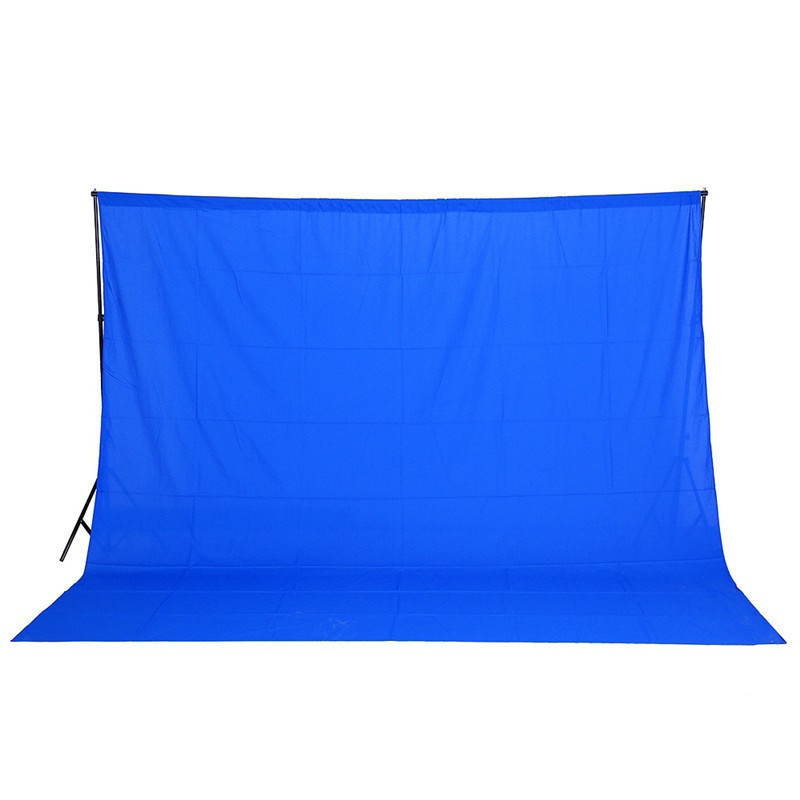 3х6м Фон студийный тканевый Visico PBM-3060 blue Chroma Key синий хромакей