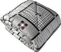 Одеяло двуспальное евро теплое бязь голд 100%-овечья шерсть плотность 630г/м2, 200x220см.