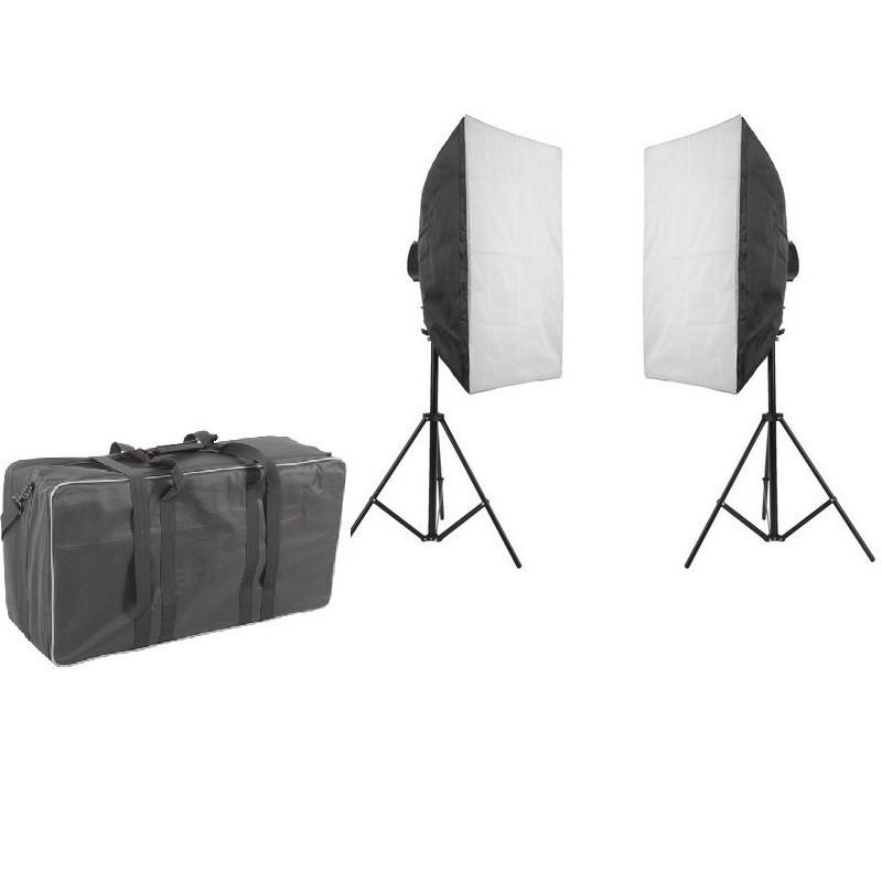 1900Вт Набор постоянного света Visico FL-307 (50x70см) Double Kit