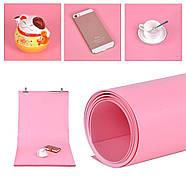 70x130см розовый ПВХ Фон для съёмки Visico PVC-7013 Pink, фото 4