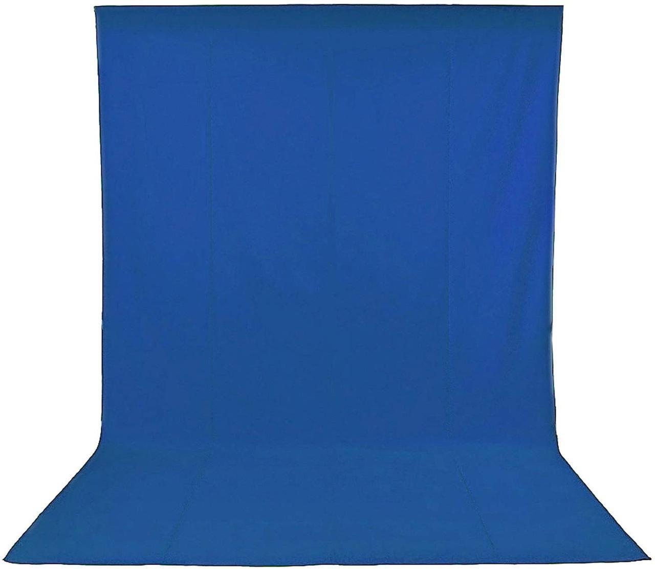 1,8х2,7м Фон студийный тканевый Visico PBM-1827  blue Chroma Key синий хромакей