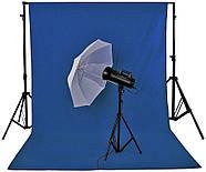 1,8х2,7м Фон студийный тканевый Visico PBM-1827  blue Chroma Key синий хромакей, фото 3