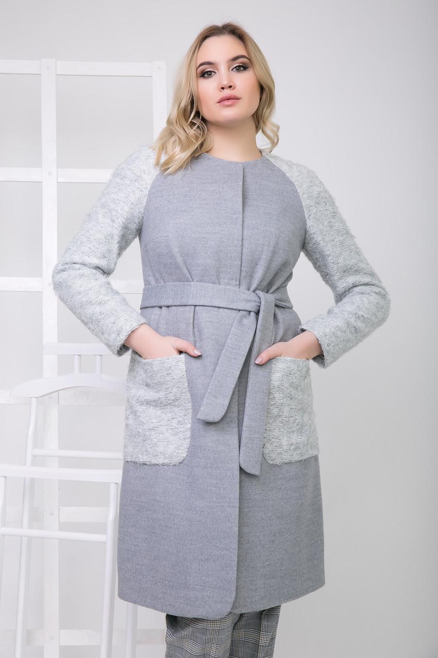 Пальто 2-598 Светло-серый4