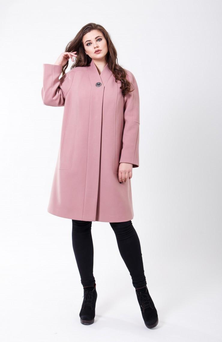 Пальто 2-508/9 Дымчато розовый