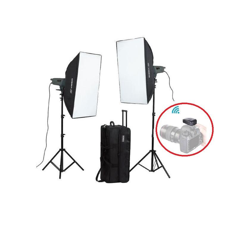 800Дж Набір студійного світла Visico VE-400 Plus KIT Softbox
