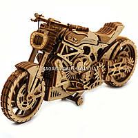 Деревянный конструктор Wood Trick Мотоцикл DMS, 203 детали.Техника сборки - 3d пазл, фото 1