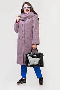 Пальто 2-479L Дымчато сиреневый