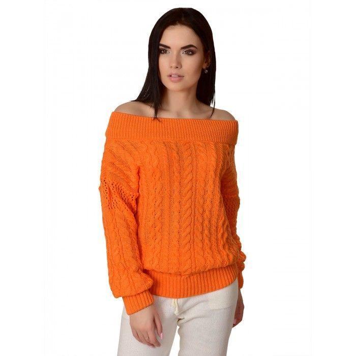 Модный женский свитер Оранжевый 42-46 размер
