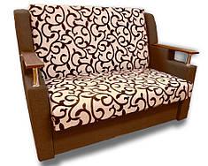 Диван розкладний Березня (Вензель коричневий). Диван з нішею для білизни, фото 2