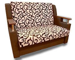 Диван розкладний Березня (Вензель коричневий). Диван з нішею для білизни