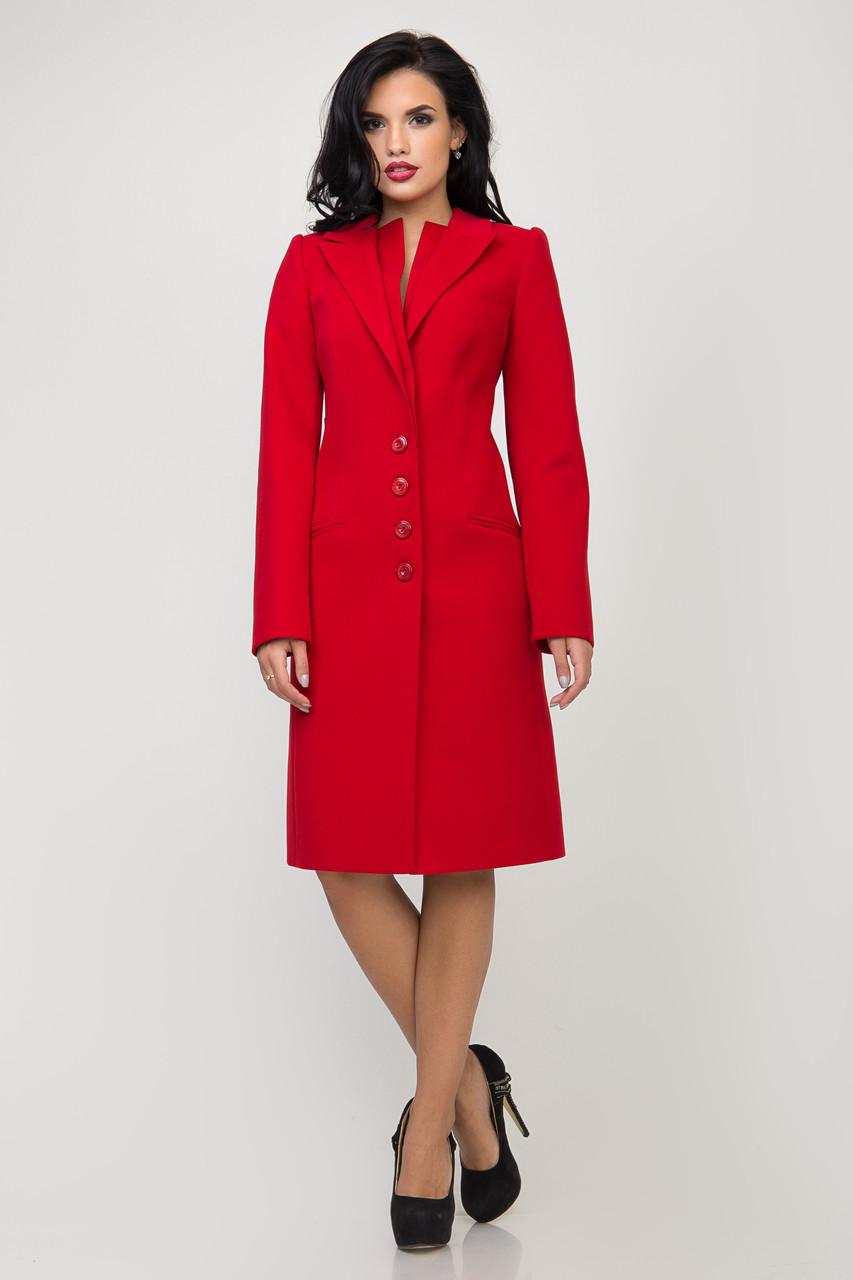 Пальто 2-500/9 Темно-красный