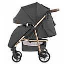 Детская прогулочная коляска темно-серая CARRELLO Echo CRL-8508/1 Midnight Gray c дождевиком, фото 2