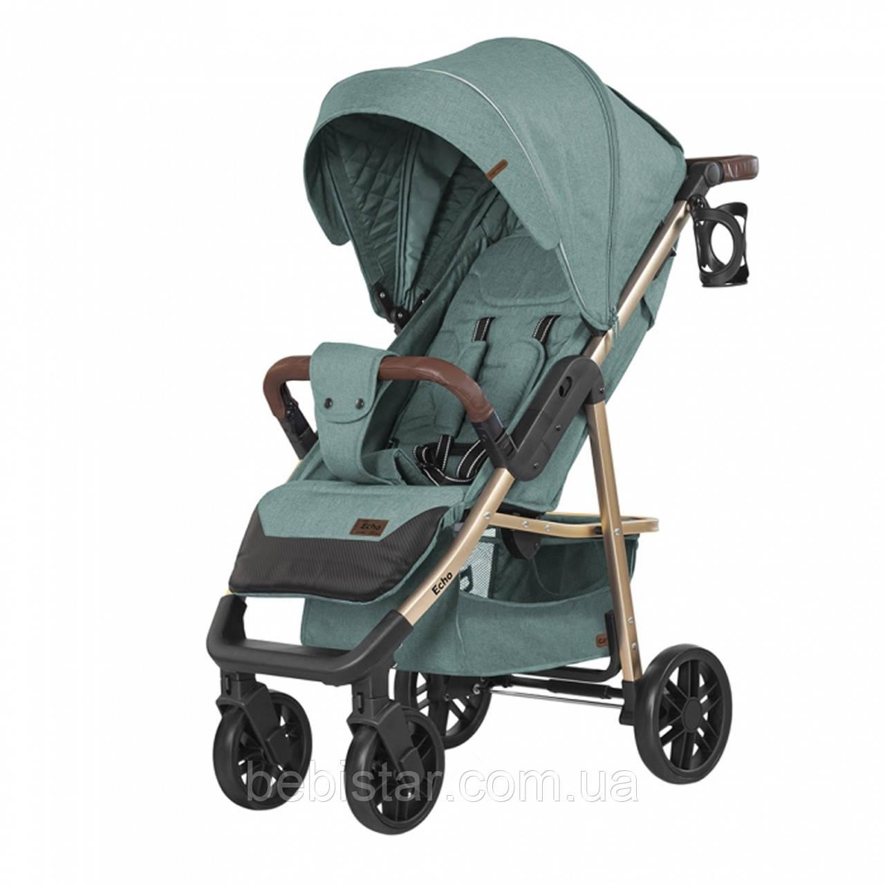 Детская прогулочная коляска темно-серая CARRELLO Echo CRL-8508/1 Emerald Green c дождевиком