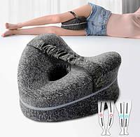 Ортопедическая подушка между ног Le.Dou - ТМ HealthDay для беременных серая
