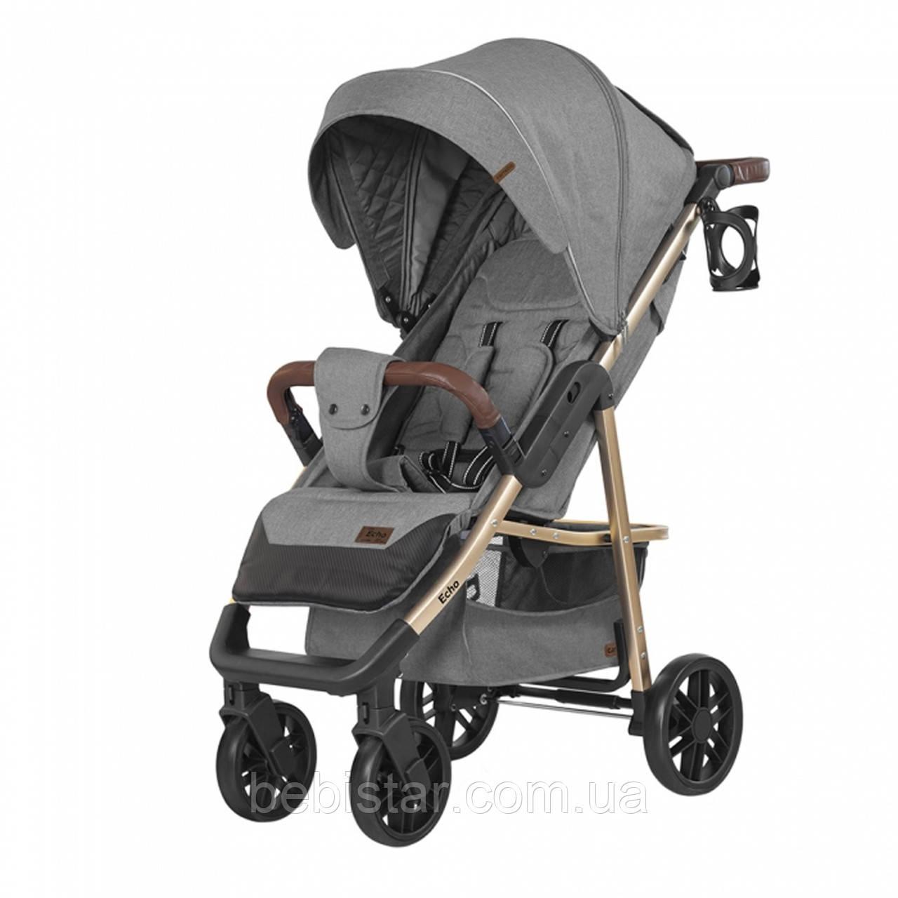Детская прогулочная коляска серая CARRELLO Echo CRL-8508/1 Rhino Gray c дождевиком