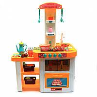 Детская игрушечная кухня 889-64 с посудой (свет, звук, вода) 55 элементов