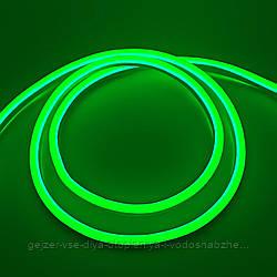 Светодиодный Neon BIOM SMD2835-120 led 12V IP68 8x16 Стандарт Зелёный
