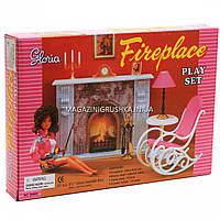 Детская игрушечная мебель Глория Gloria для кукол Барби «Камин» 96006. Обустройте кукольный домик
