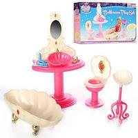 Детская игрушечная мебель Глория Gloria для кукол Барби Ванная 1213. Обустройте кукольный домик