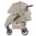 Детская прогулочная коляска бежевая CARRELLO Echo CRL-8508/1 Camel Beige c дождевиком, фото 2