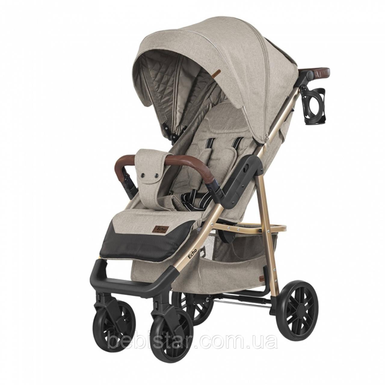 Детская прогулочная коляска бежевая CARRELLO Echo CRL-8508/1 Camel Beige c дождевиком