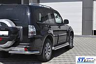 Mitsubishi Pajero Wagon 4 (06+) защитная дуга защита заднего бампера на для Митсубиси Паджеро Вагон Mitsubishi Pajero Wagon 4 (06+) углы d60х1,6мм