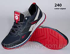 Шкіряні кросівки Reebok (репліка) (240 синьо-сіра) чоловічі спортивні кросівки шкіряні чоловічі