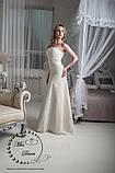 Свадебное платье рыбка бежевое (айвори) гипюровое, фото 2