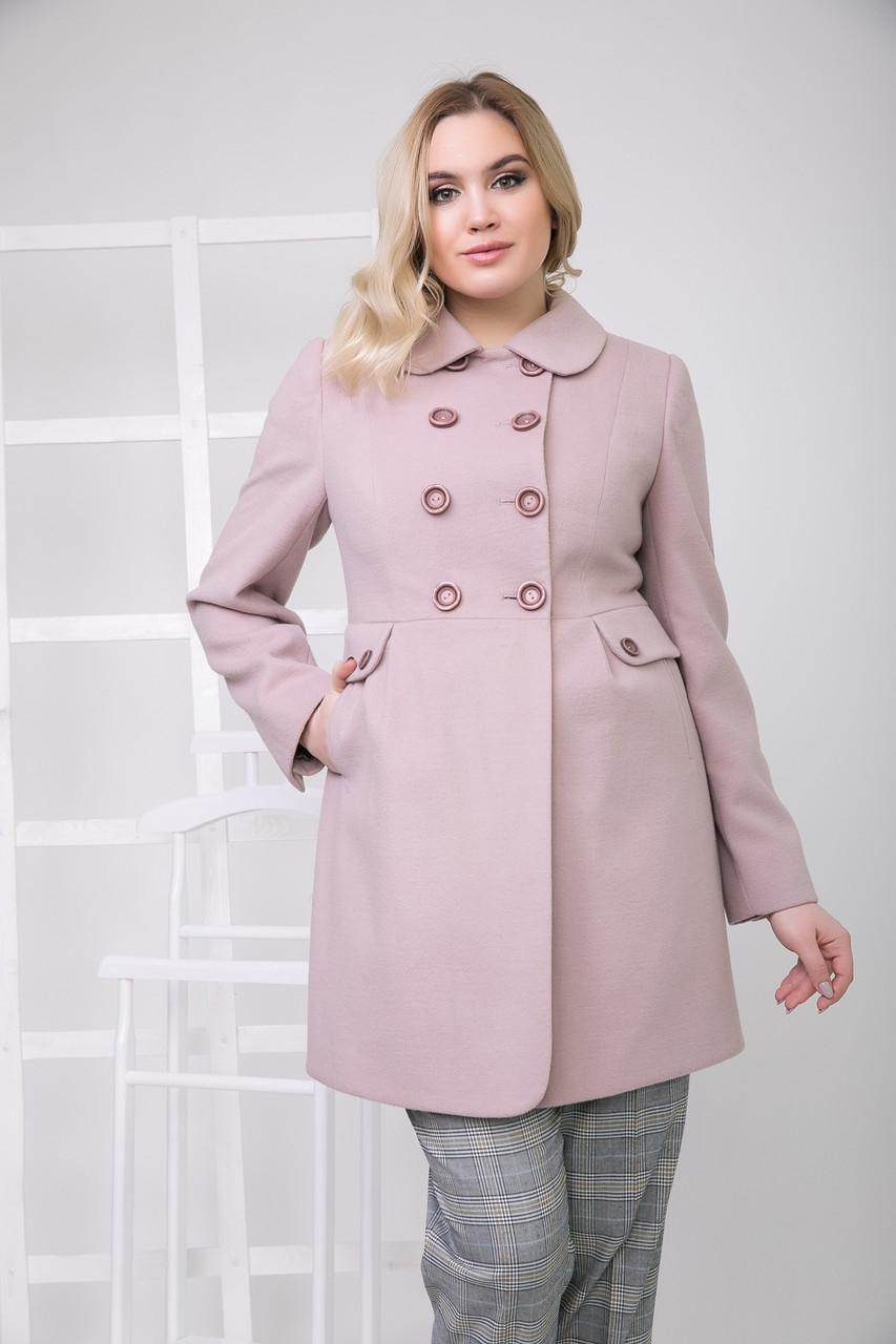 Пальто S-2178 Розовый зефир