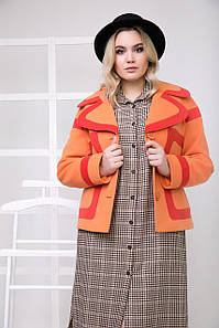Пальто S-2168 Оранжевый