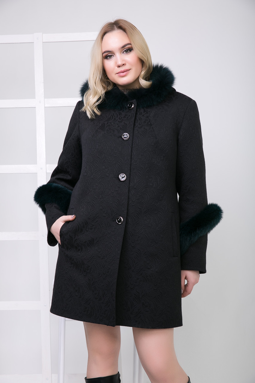 Пальто 111Н Черный + мурена