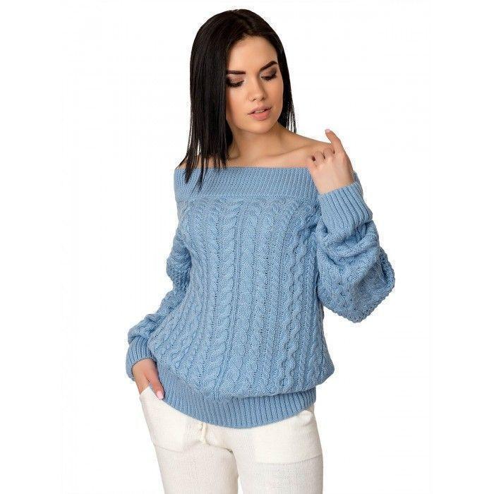 Модный женский свитер красный 42-46 размер