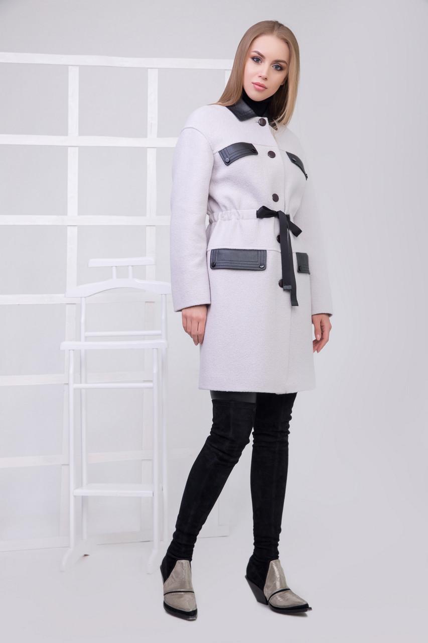 Пальто S-2180 Жемчужный