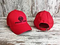 Мужская Кепка Philipp Plein 100% Cotton VIP-Качество Кепка Красная Брендовая Летняя Хлопок 100%