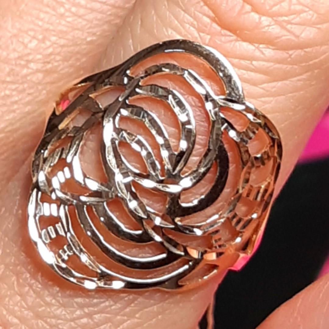 Золотое кольцо без камней - Женское кольцо из золота