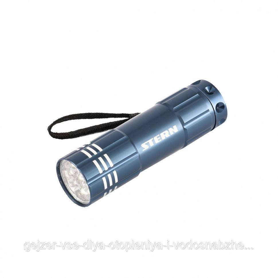 Ручной фонарь STERN 9LED 3xAAA Синий алюминиевый корпус с ремешком