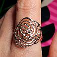 Золотое кольцо без камней - Женское кольцо из золота, фото 6