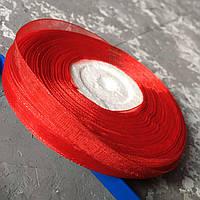 Стрічка з органзи червона 0,6 см. / Лента из органзы красная